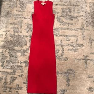 Michael Kors Red Ribbed Dress